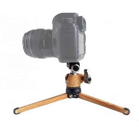 Kit Leofoto MT-01 + rótula LH-25 color madera